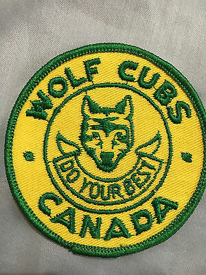 Wolf Cubs Do Your Best Canada Patch