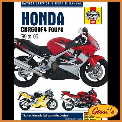 3911 Haynes Honda CBR600F4 1999 - 2006 Workshop Manual