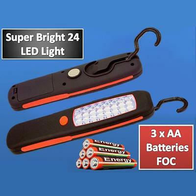 Cordless Magnetic 24 LED Inspection Lamp Torch Flashlight Camping Work Light US