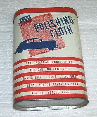 GM  Chevrolet-- Buick Cadillac Oldsmobile Pontiac polishing Cloth can with cloth
