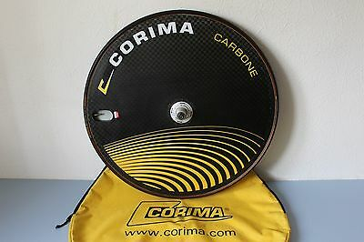 CORIMA CARBONE CARBON DISC REAR BIKE WHEEL TUBULAR700c CAMPAGNOLO TT TRIATHLON