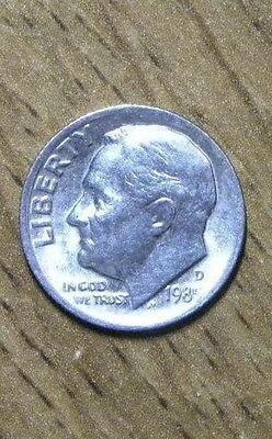1985 US Roosevelt Dime 10 Cents Coin