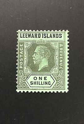 Leeward Islands KGV 1912 1/ black on green MH