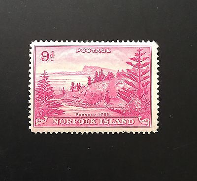 Norfolk Island KGVI 9d purple MH