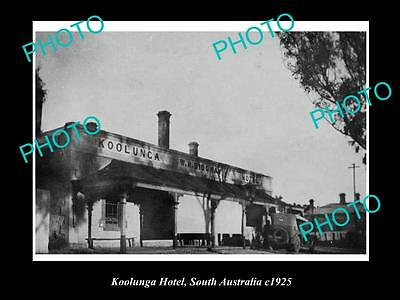 OLD LARGE HISTORIC PHOTO OF KOOLUNGA SOUTH AUSTRALIA, VIEW OF THE HOTEL c1925