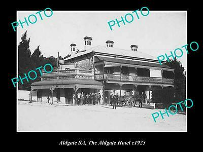 Old Large Historic Photo Of Aldgate South Australia, The Aldgate Hotel 1925
