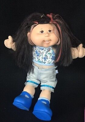 Asian Girl Cabbage Patch Kids Magic Touch ColorSilk '04 Teeth Green Play Along