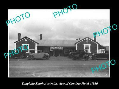 Old Large Historic Photo Of Tungkillo South Australia View Of Comleys Hotel 1930