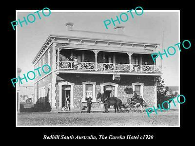 OLD LARGE HISTORIC PHOTO OF REDHILL SOUTH AUSTRALIA, THE EUREKA HOTEL c1920s