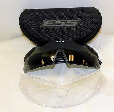 Ess Ice Military Shooting Glasses New in Case