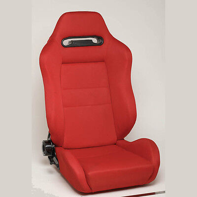 Nrg Type -R Style  Racing Seats (Cloth) Red With Red Stitching - Drivers Seat
