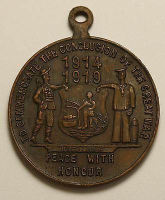 1919 South Africa WWI Peace With Honour Medal  The End of The Great War