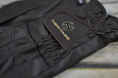 Heritage Premier Show Gloves in Brown - Size 7