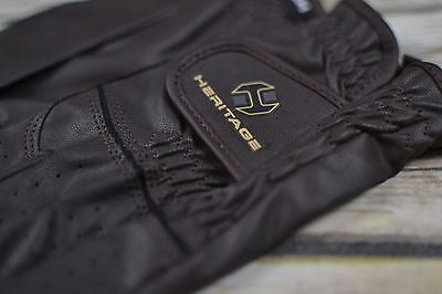 Heritage Premier Show Gloves in Brown - Size 6