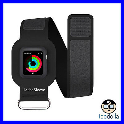 TWELVE SOUTH ActionSleeve sport exercise armband, Apple Watch 42mm, Small, Black
