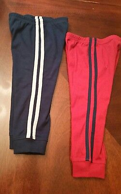 LOT of 2 Baby Boys Carter's TWIN Jogger Sweat Pants 18M