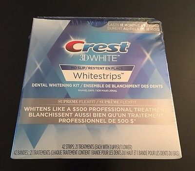 Crest 3D White Whitestrips Supreme Flexfit 21 Treatments (42 Strips)