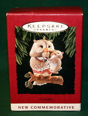 Hallmark Ornament 1994  Grandpa--------- Owls