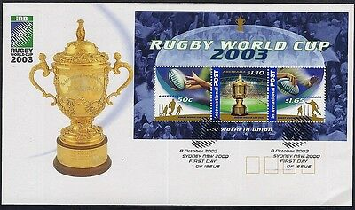 Australia 2003 Rugby World Cup Miniature Sheet  Fdc