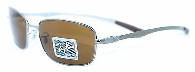 RAY BAN RB8308 004 59/18 New SILVER Authentic MEN Designer SUNGLASSES w/ CASE