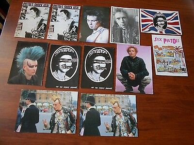 Qty 12 Of Sex Pistols and Punk Postcards, very good condition