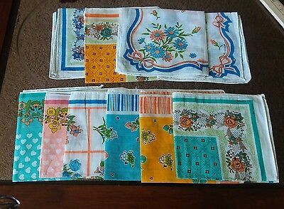 Beautiful Vtg!!! ALL COTTON *HANKY SET Of 10 COLLECTION* RN 13960*