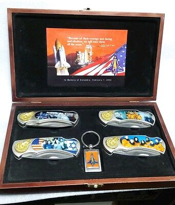 Nasa Columbia Commemorative Knife Set In Box Shuttle Mission Sts-107 Space