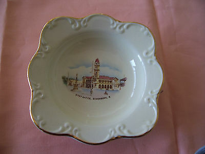 "Crown Devon England ""Post Office Bundaberg"" Pin Dish"