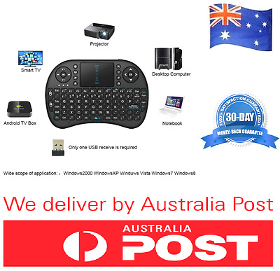 Mini Rii i8 2.4GHz Wireless Keyboard Touchpad For Smart TV PC Android Box