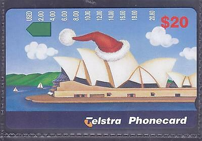 AUSTRALIA.PHONECARD.MINT.$20.00 OPERA HOUSE.Pref 1271.Collector excess.
