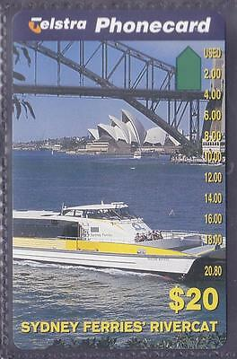 AUSTRALIA.PHONECARD.MINT.$20.00 SYDNEY FERRIES.Pref 1025.Collector excess.
