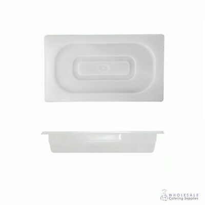 Food Pan with Clear Lid 1/3 GN Size 65mm Deep Polypropylene Gastronorm