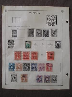 ~1882-1959 Guatemala On Scott Pages - Unchecked - See Description Photos -W34