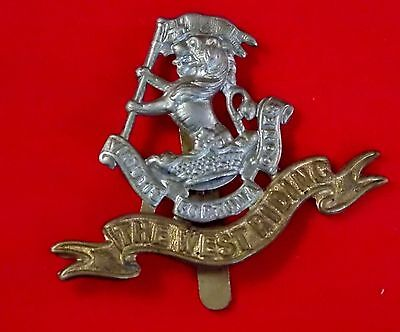 WWI British Army Cap Badge THE WEST RIDING REGIMENT