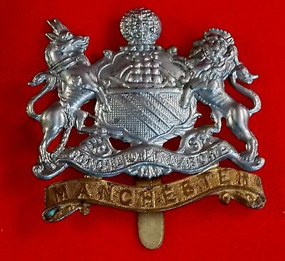 WWI British Army Cap Badge MANCHESTER REGIMENT