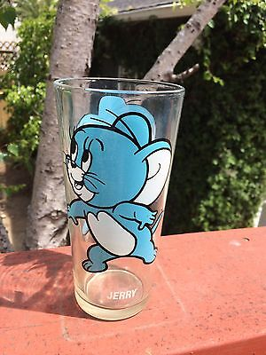VTG 1975 Looney Tunes Jerry Glass Cup MGM Pepsi Collectors Series Tom & Jerry