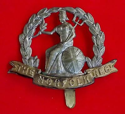 WWI British Army Cap Badge THE NORFOLK REGIMENT