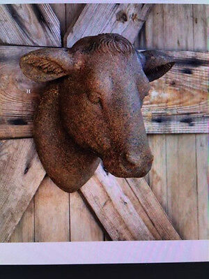 Rustic Country French Farmhouse Cow Yearling Heifer Head Wall Bust