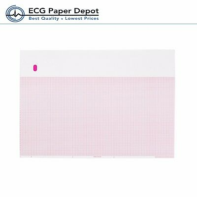 ECG Paper for Marquette - 9402-024 - 216mm X 280mm X 300 Sheets, Z-fold PK 3