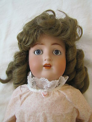 """Antique German ABG 1352 Bisque Head Doll with Jointed Body ~ 24"""" Tall"""