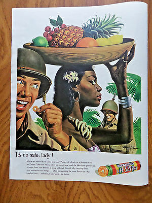 1944 Life Savers Candy Ad   Ww II Theme  It's No Sale Lady