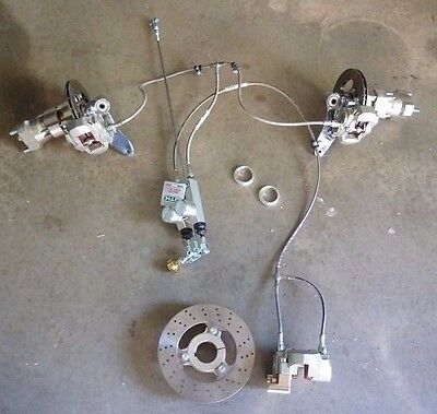 NEW OTK GO KART COMPLETE FRONT AND REAR BRAKING SYSTEM (SUIT DD2 ETC) - Tonykart