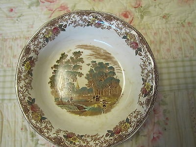Olde England Royal Tudor Ware by Barker Brothers - Multi-color Bowl w/ stains