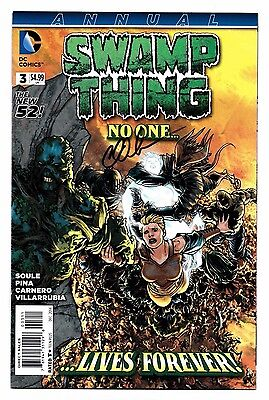 Swamp Thing Annual #3 DC 2014 1st print Signed by Charles Soule Seeder 9.2 NM-