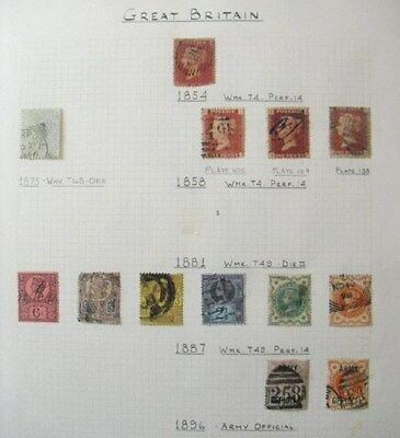 GB 1854 - 1896 Selection of Used Queen Victoria Off Paper - See Photo