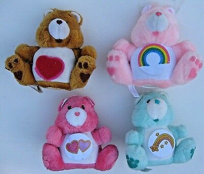 "Vintage Care Bears Lot of 4 Plush Banks 7"" tall 1984"