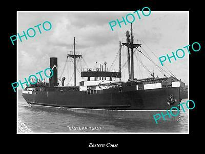 OLD LARGE HISTORIC MERCHANT SHIP PHOTO OF THE STEAMSHIP SS EASTERN COAST c1920s