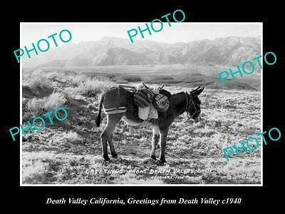 OLD LARGE HISTORIC PHOTO OF DEATH VALLEY CALIFORNIA, DEATH VALLEY EXPRESS c1940
