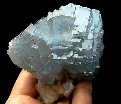 297g   Natural beautiful  blue fluorite crystal  Mineral Specimen/China