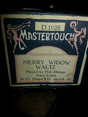 Vintage PIANO ROLL of THE MERRY WIDOW good condition plays
